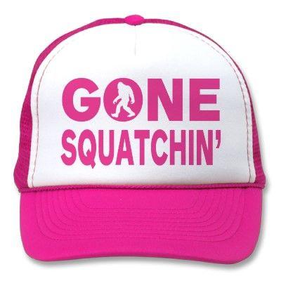 Original   Best-Selling Bobo s GONE SQUATCHIN Pink Trucker Hat  58ecc5cc8157