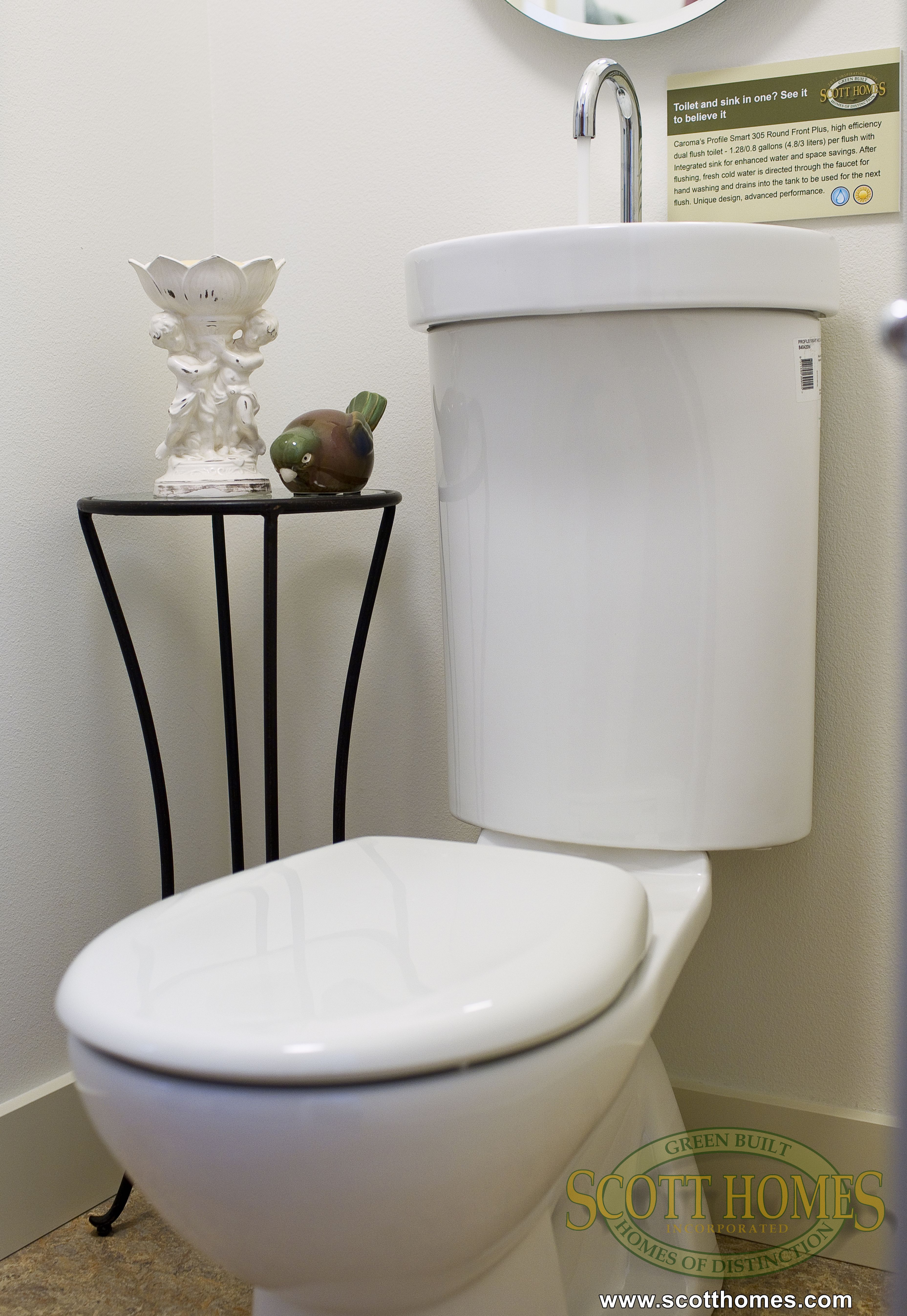 This Two In One Toilet/sink Design Lends Utility To Small Spaces.