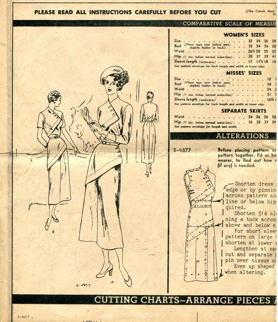 30s Cocktail Evening Dress Pattern by DesignRewindFashions on Etsy
