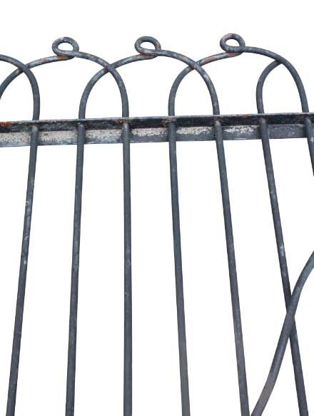 Antique wrought iron double loop fence | Fence Art | Pinterest ...