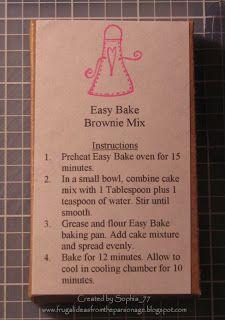 Easy Bake Oven Refills Easy Bake Oven Easy Baking Easy Bake Oven Mixes