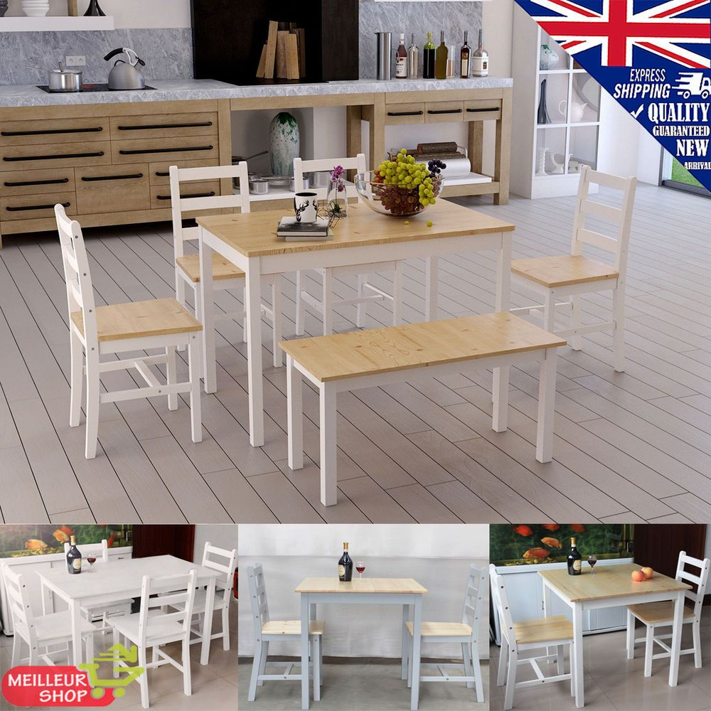 Panana solid wood dining coffee table and chairs set bistro kitchen