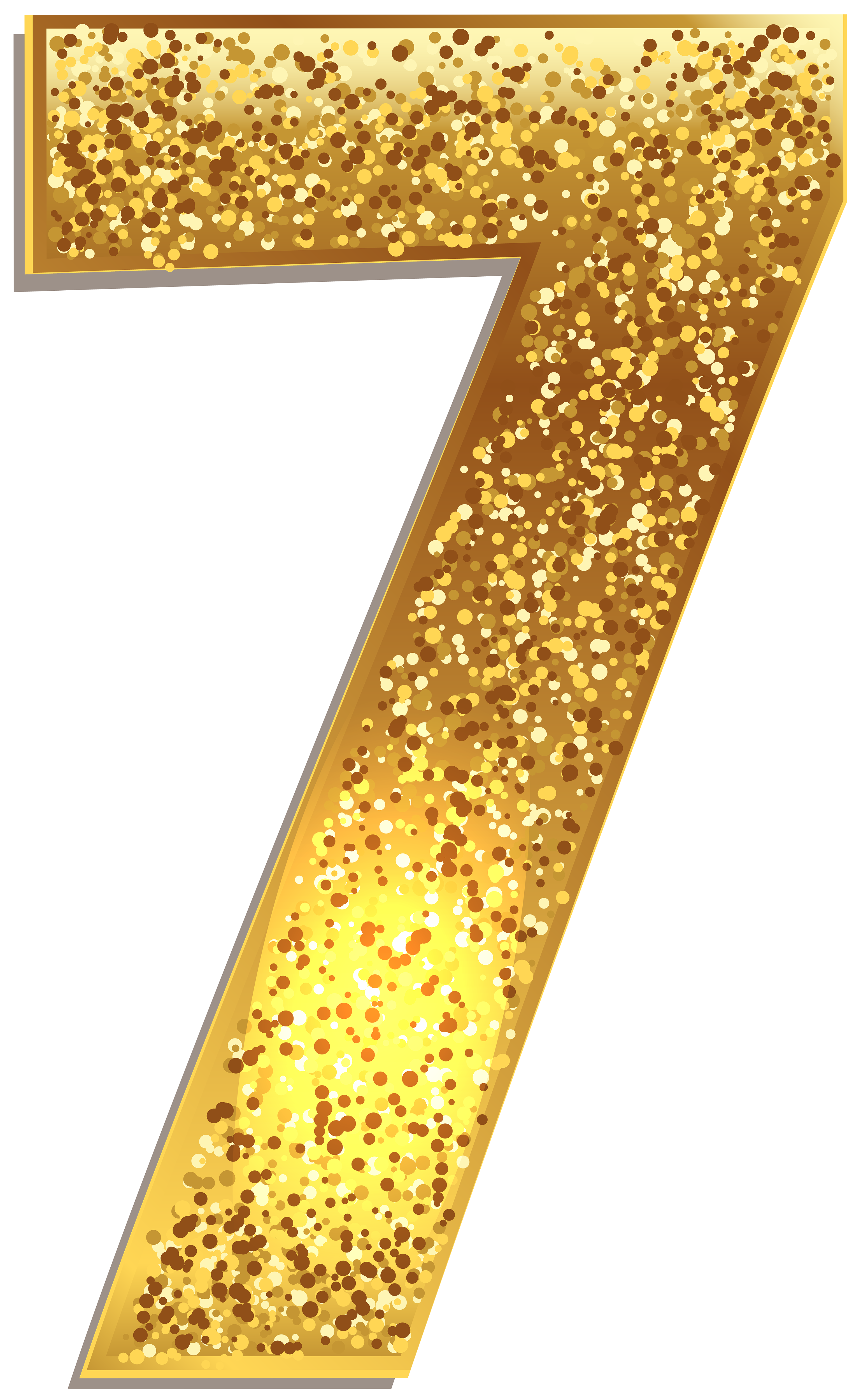 Number Seven Gold Shining Png Clip Art Image Gallery Yopriceville High Quality Images And Transparent Png Free Clipart Clip Art Free Clip Art Gold Clipart