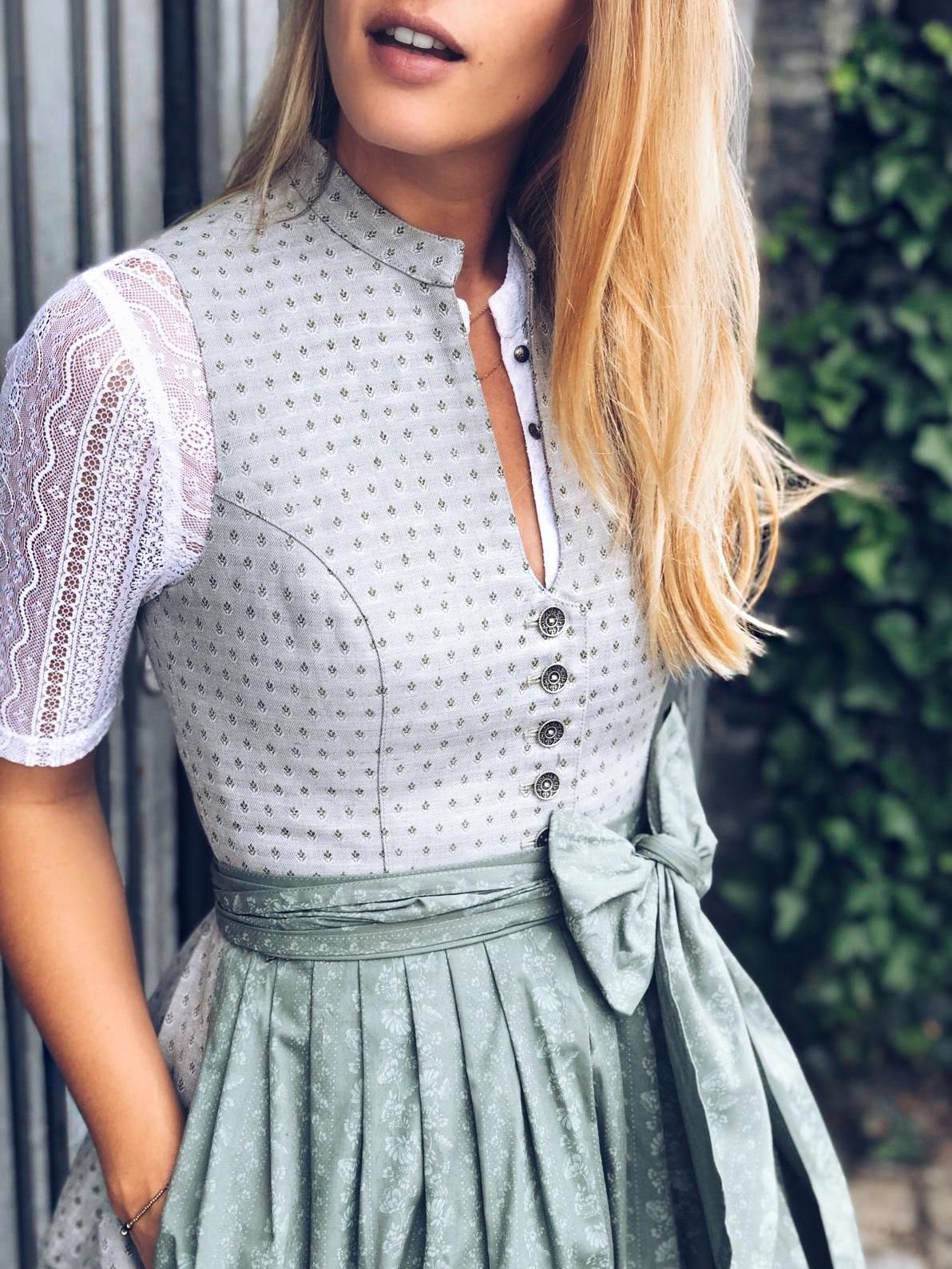 Dirndl Betti Midsummer Green #designofblouse