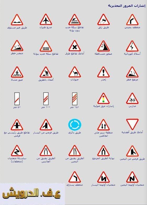Isharat Seir إشارات السير Isharat 3 Sign Language Alphabet Traffic Signs Driving Theory