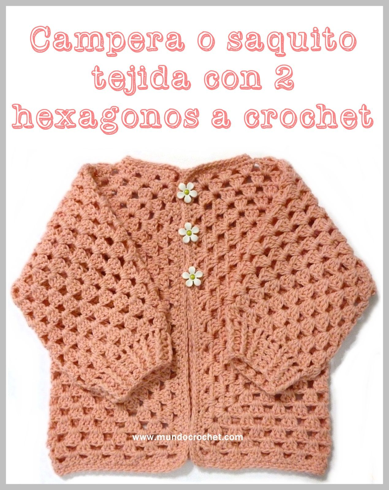 Crochet hexagon jacket / Crochet hexagon sweater | vestidos ...