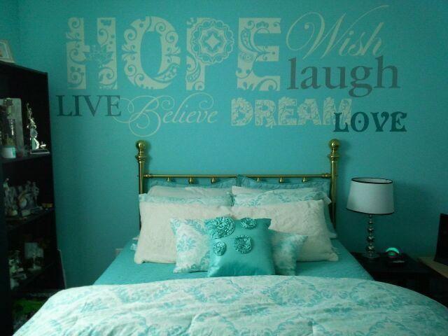 Tiffany Blue Teen Girls Bedrooms   Design Dazzle   Home Decor 2017