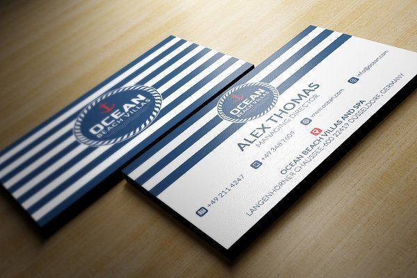Marine Business Card Unique Business Cards Cards Business Cards
