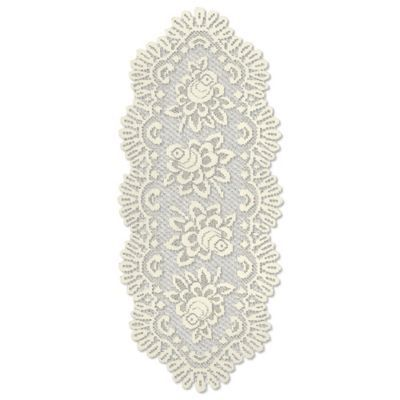 Heritage Lace® Rose Oval Table Runner   BedBathandBeyond.com
