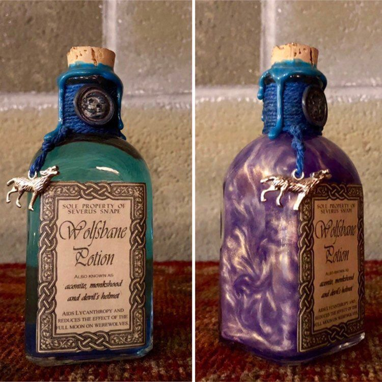 Wolfsbane Potion A Color Change Magical Potion Bottle Decoration