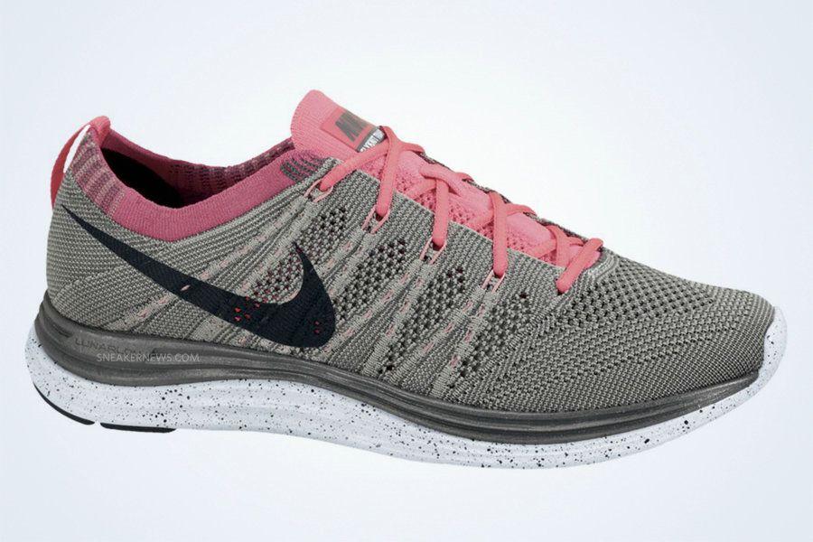 hot sales 48898 1368a Nike Flyknit One+ Pure Platinum Black Dark Grey Pink Flash 554888 001
