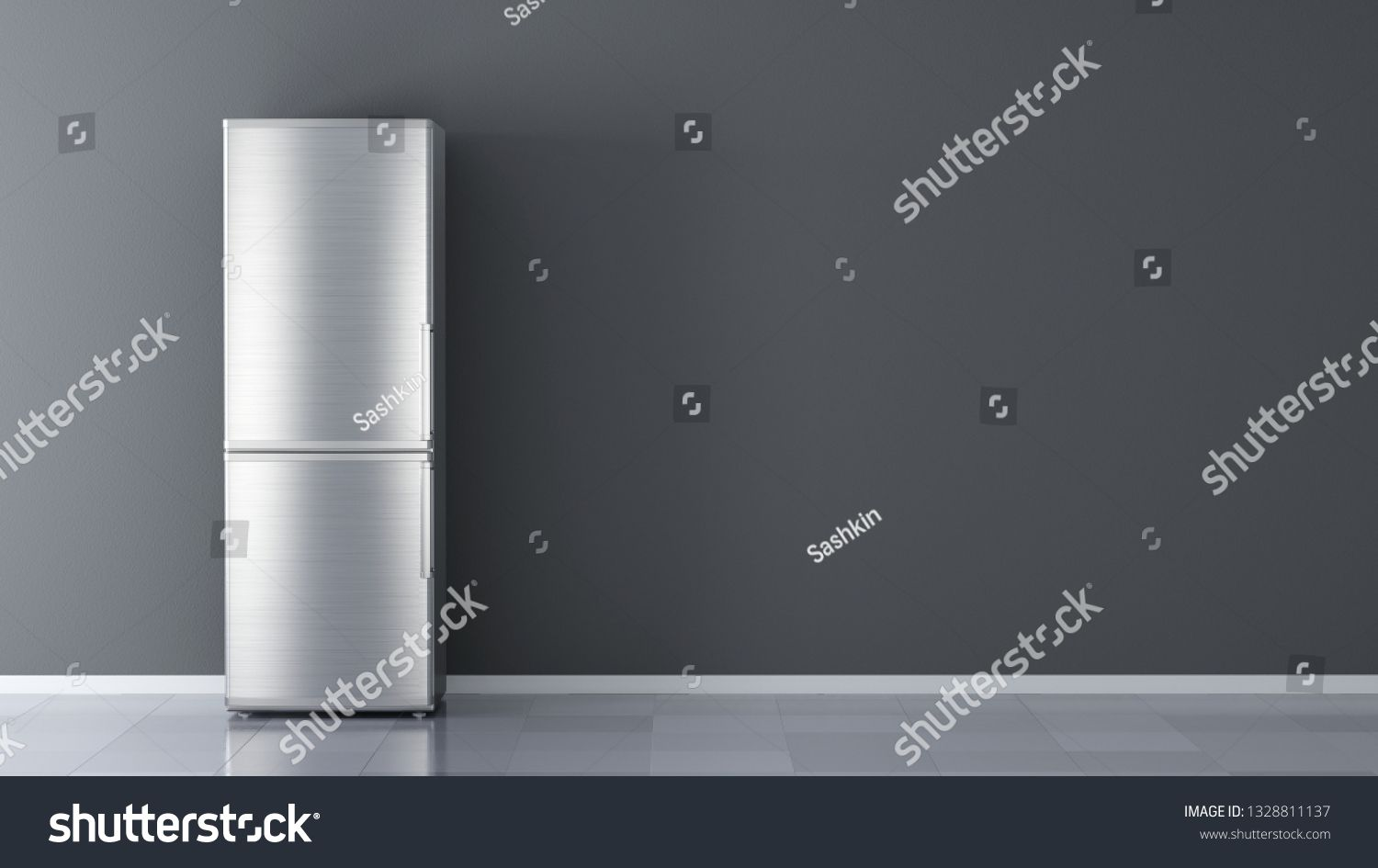 Modern Stainless Steel Refrigerator Fridge Freezer Isolated On A White Background 3d Rendering Sponsored Stainless Steel Refrigerator Fridge Freezers Steel