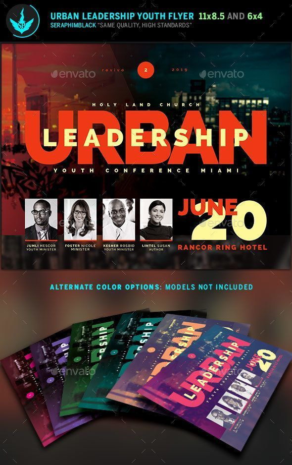 Urban Youth Leadership Conference Church Flyer Template  Photoshop