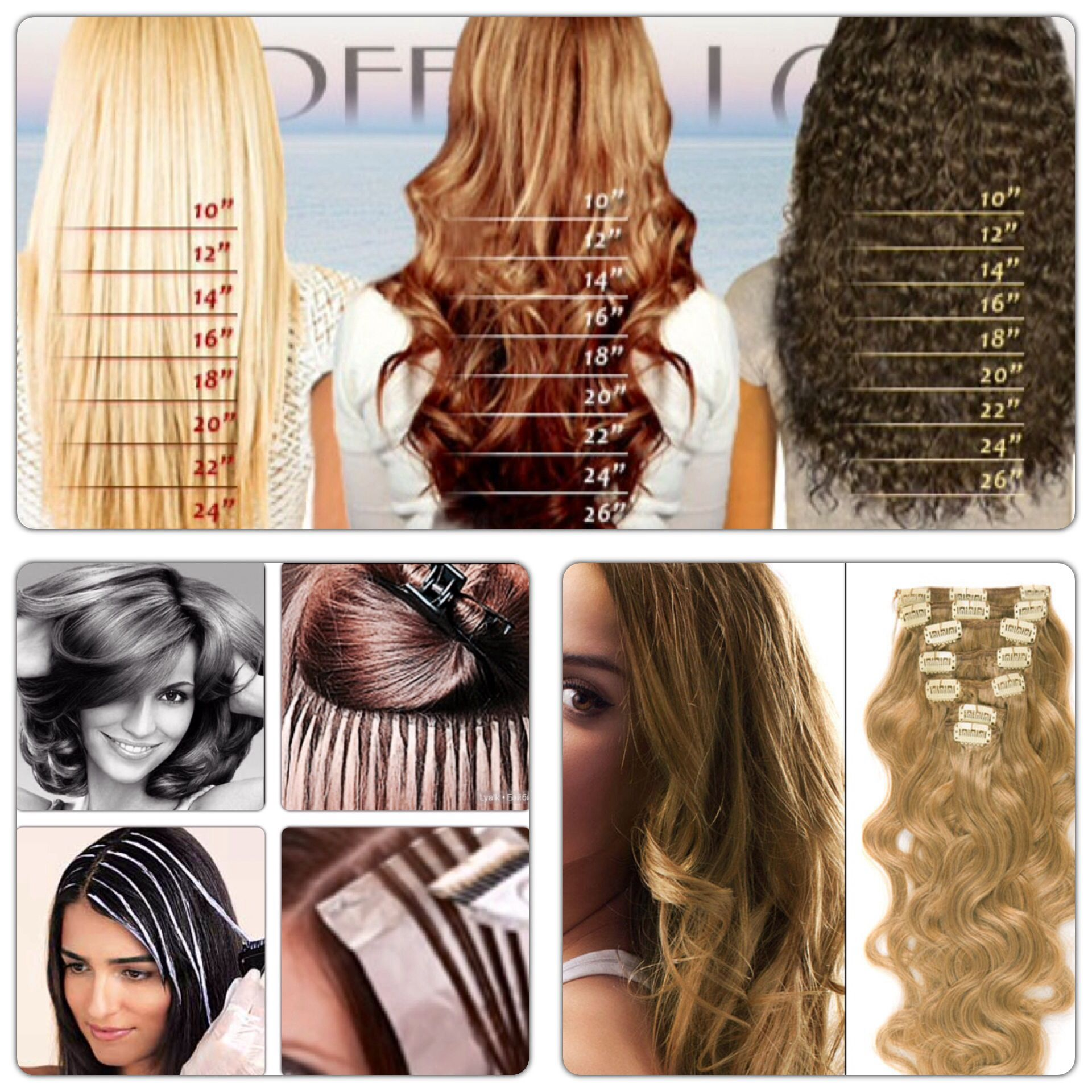 A Helpful Guide For Different Textures Lengths Of Hair Extensions