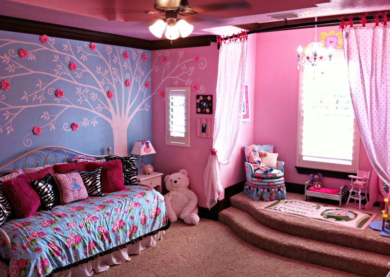 A Perfectly Pink Rose Tiffany Blue Room Big girl rooms
