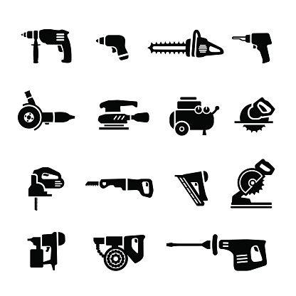 Power Tools Vector Set Icons Vector Id518199583 416 416 Icon Logo Design Icon Design
