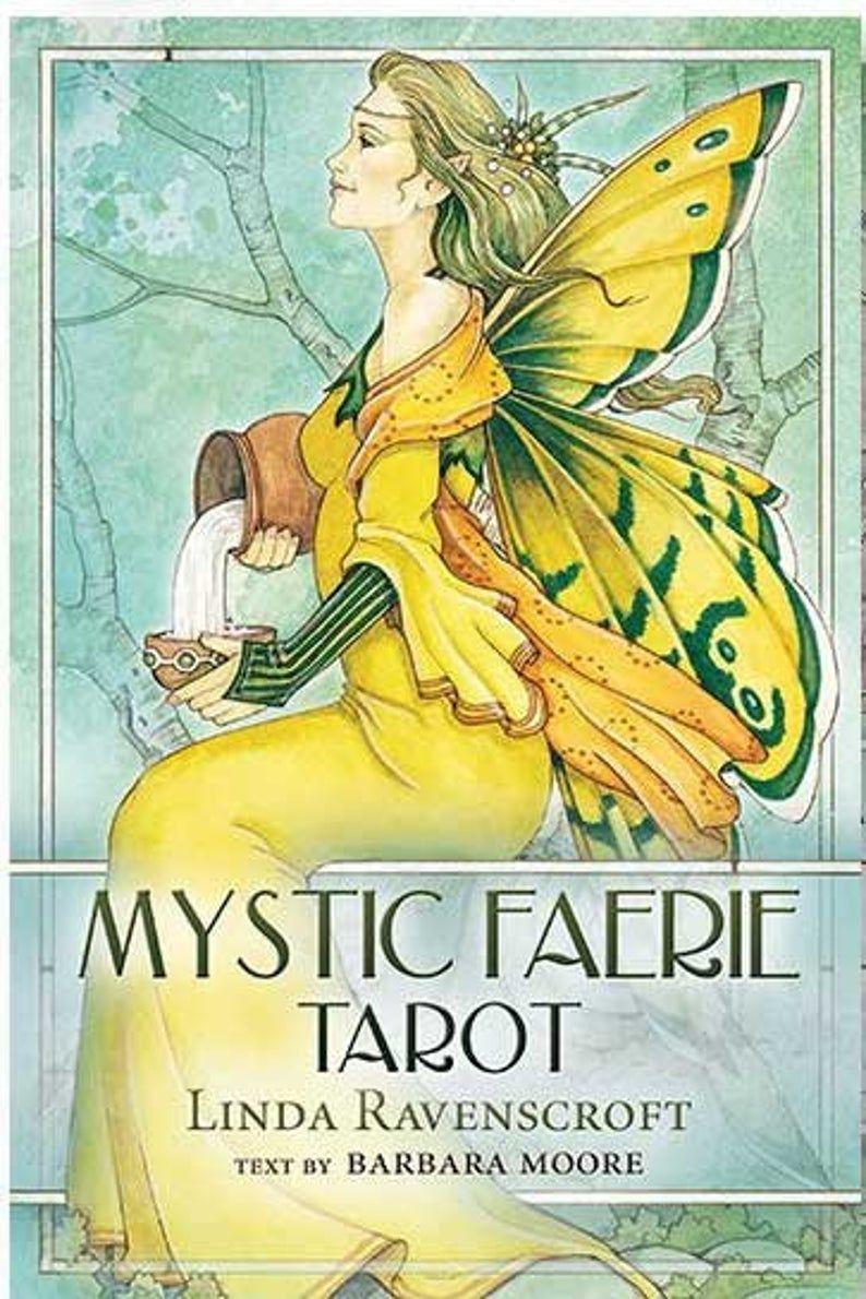 Mystic faerie tarot cards deck and book tarot deck tarot