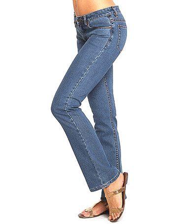 Look at this #zulilyfind! Medium Blue Simple Bootcut Jeans #zulilyfinds