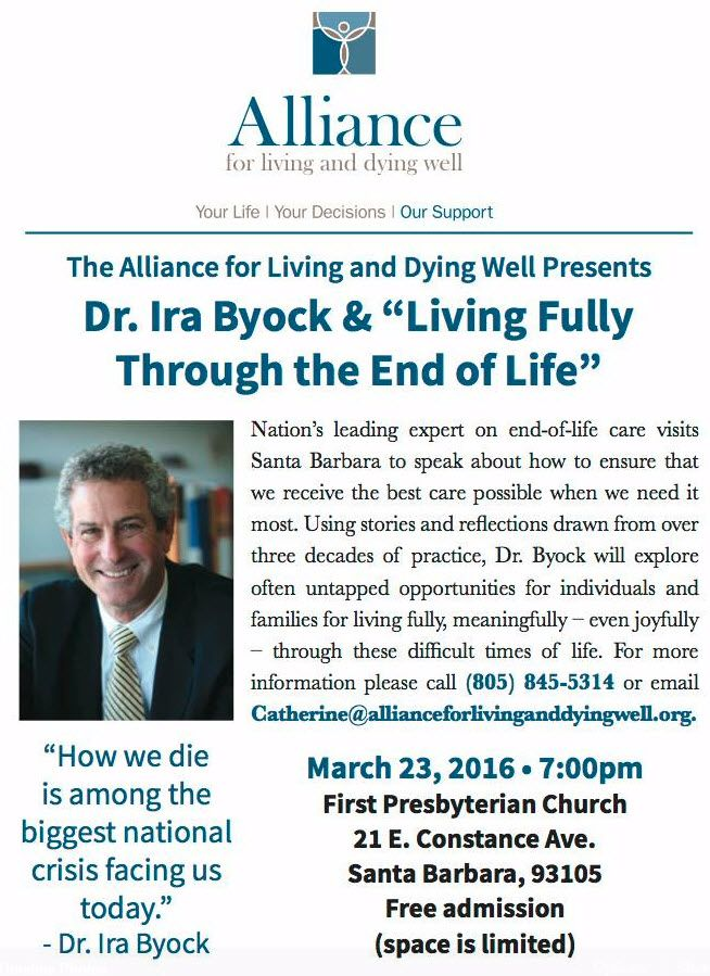 Don't miss Dr. Ira Byock's presentation on Wednesday