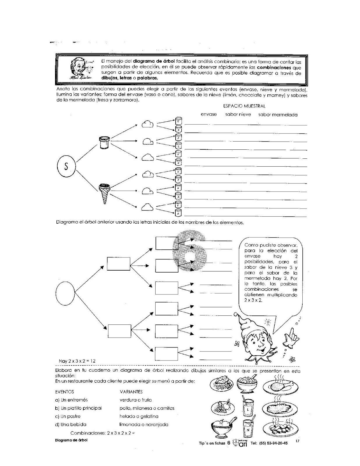 Ejercicio De Diagrama De Arbol Para Niños Educacion Primaria Material Educativo Matematicas Fracciones