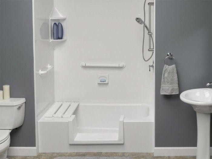 Vernice Bagno ~ Pittura bagno color grigio zoccolino bianco vasca doccia apertura