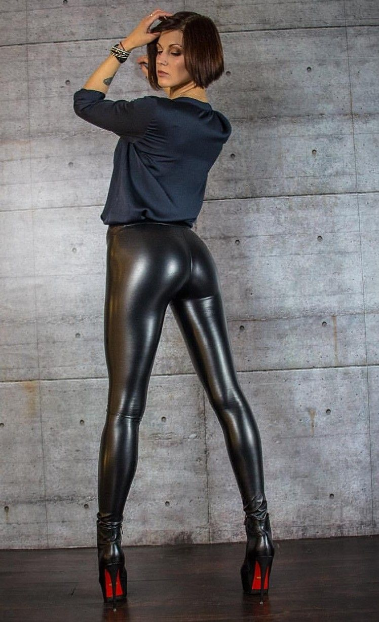 legs latex pants girl sexy