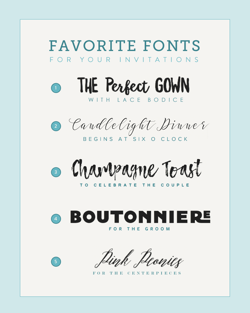 Five Font Pairings for Invitations | Font pairings, Fonts and ...