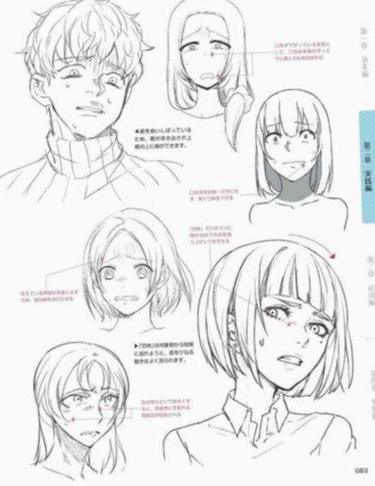19 Anime Face Base Facial Expressions Dengan Gambar Referensi Gambar Sketsa Ekspresi Wajah