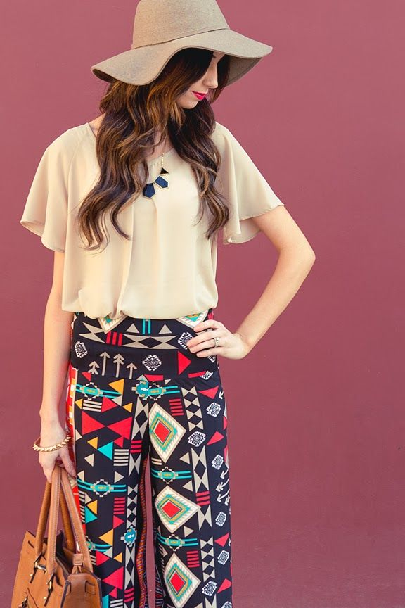 Palazzo Pants would be peeerrrrfect for the office. Personality, fun, and yet still professional. Boo-YAH!