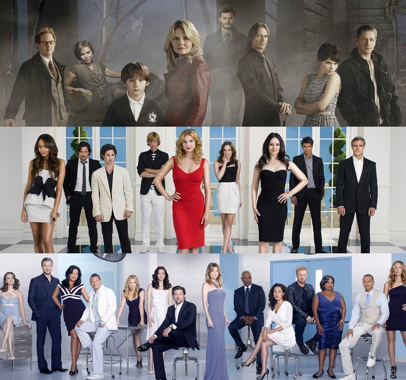 Once Upon A Time. Revenge. Grey's Anatomy. MY FAVORITE SHOWS!!!! <3