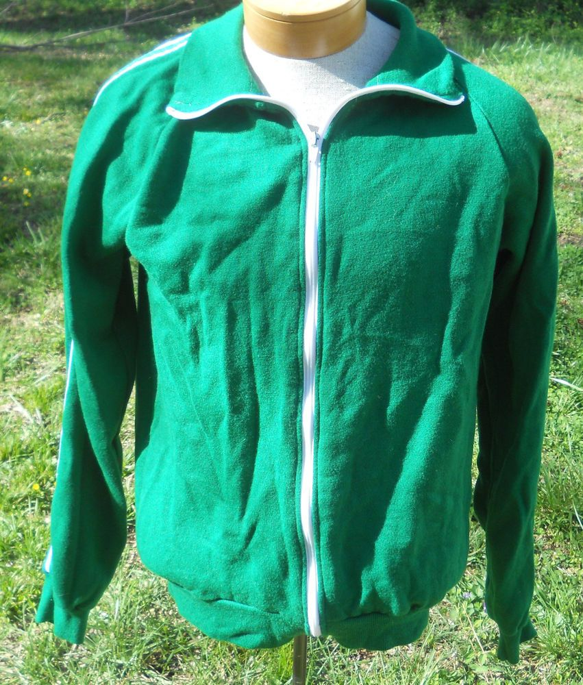 Vintage green track jacket. Vintage Windbreaker. Green jacket with white stripes. Warm up Jacket tE3MLzEX