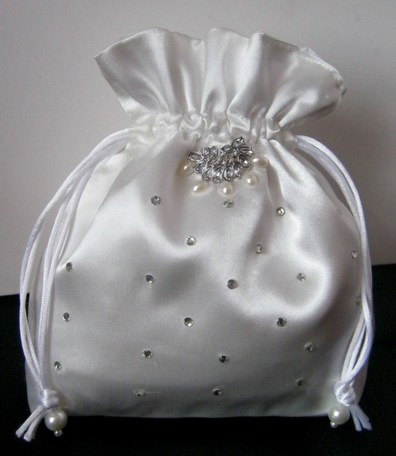 New Girls Ivory Handbag White Wedding Evening First Holy Communion Satin Bag