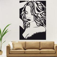 Vinilo decorativo pared Mujer pop art