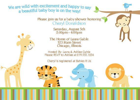 Monkey Downloadable Unisex Cream DIY Zoo Safari INSTANT DOWNLOAD Fully Editable Invite Animals Baby Shower Invitations Printable