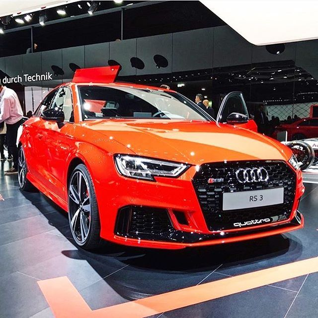 Catalunya Red Black Optics? Audi RS3 Sedan 5 Cylinder