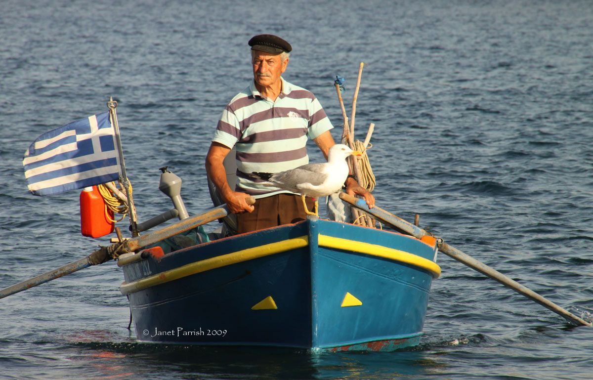 Fisherman with images old fisherman