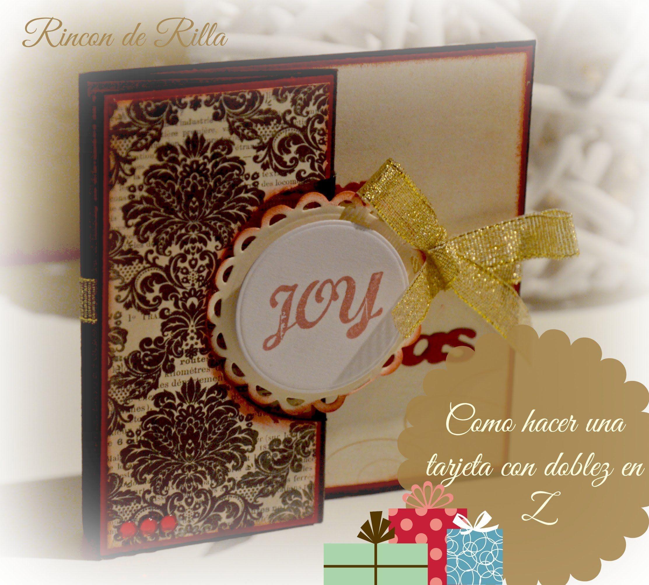 Como hacer una tarjeta navide a con doblez en z scrap - Tarjetas navidenas para hacer ...