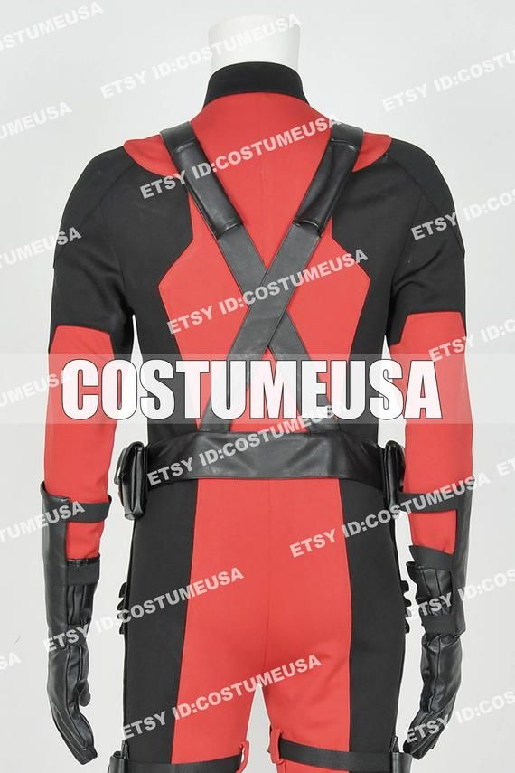 Custom made Size Deadpool Wade Wilson Cosplay Costume Knit VersionYou will Receieve:FullMaterial:PleatherWe need those custom made size info from you, please.Total Height:Weight:Shoulder Width:Chest/Bust Circumference:Waist Circumference:Hips Circumference:Upper Arm Circumference:Top Thigh Circumference:Calf Circumference:Cell Phone Number:To those who want to make it with standard size, please refer to the size chart. After you choose size chart, we still need some of your actual size. Thanks f