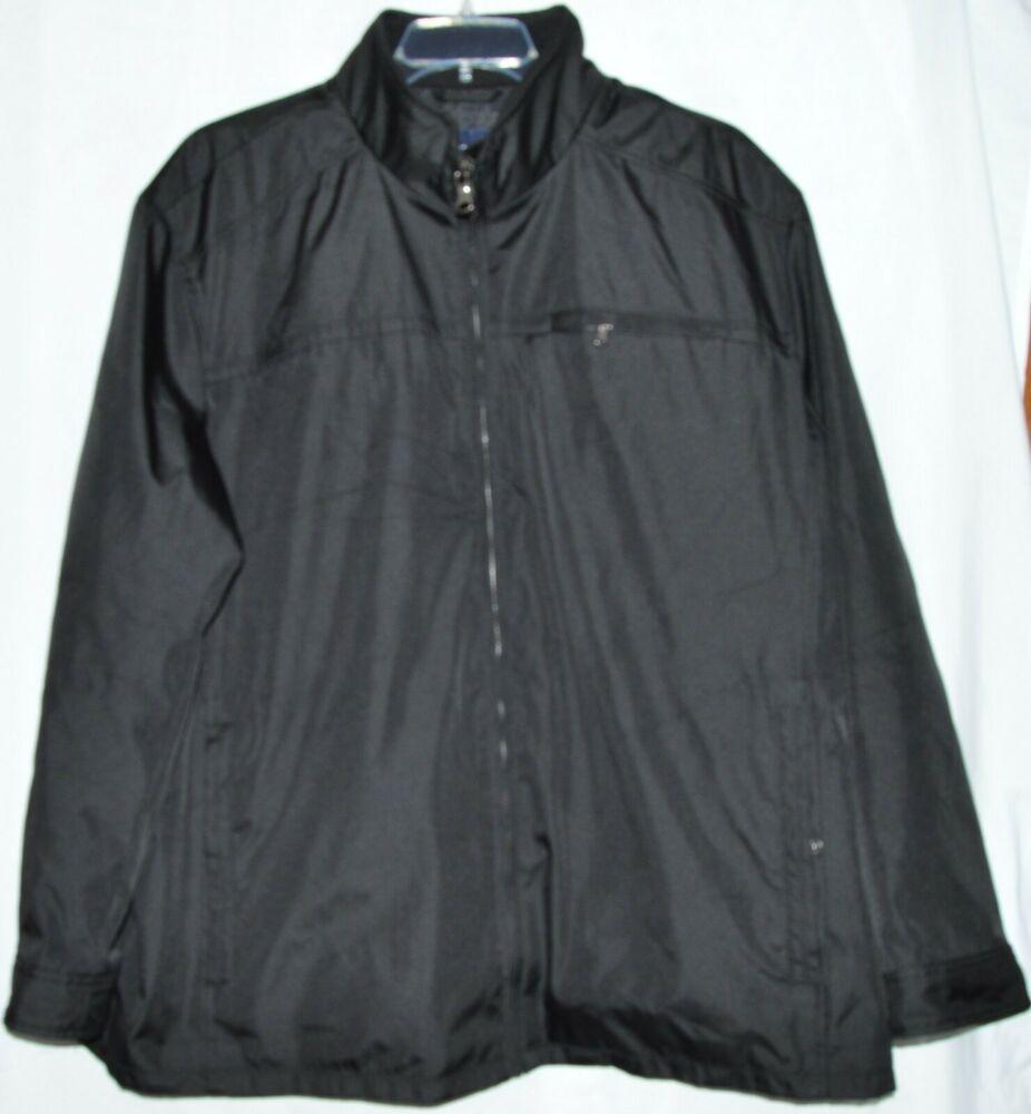 4d9916737 Roundtree & Yorke Men's Black Water Resistant Zip Up Jacket Size 3XB ...