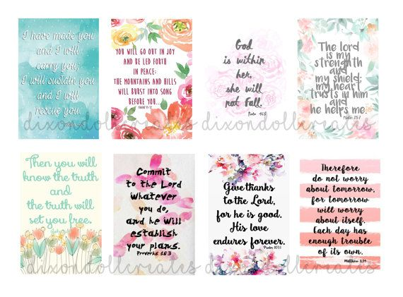 An Uplifting Set Of Eight Bible Scripture Planner Stickers