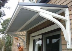 Image result for corrugated door awning | Diy awning