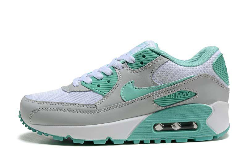 Nike Air Max 90 kvinner sko White Grey 2022,nike air max
