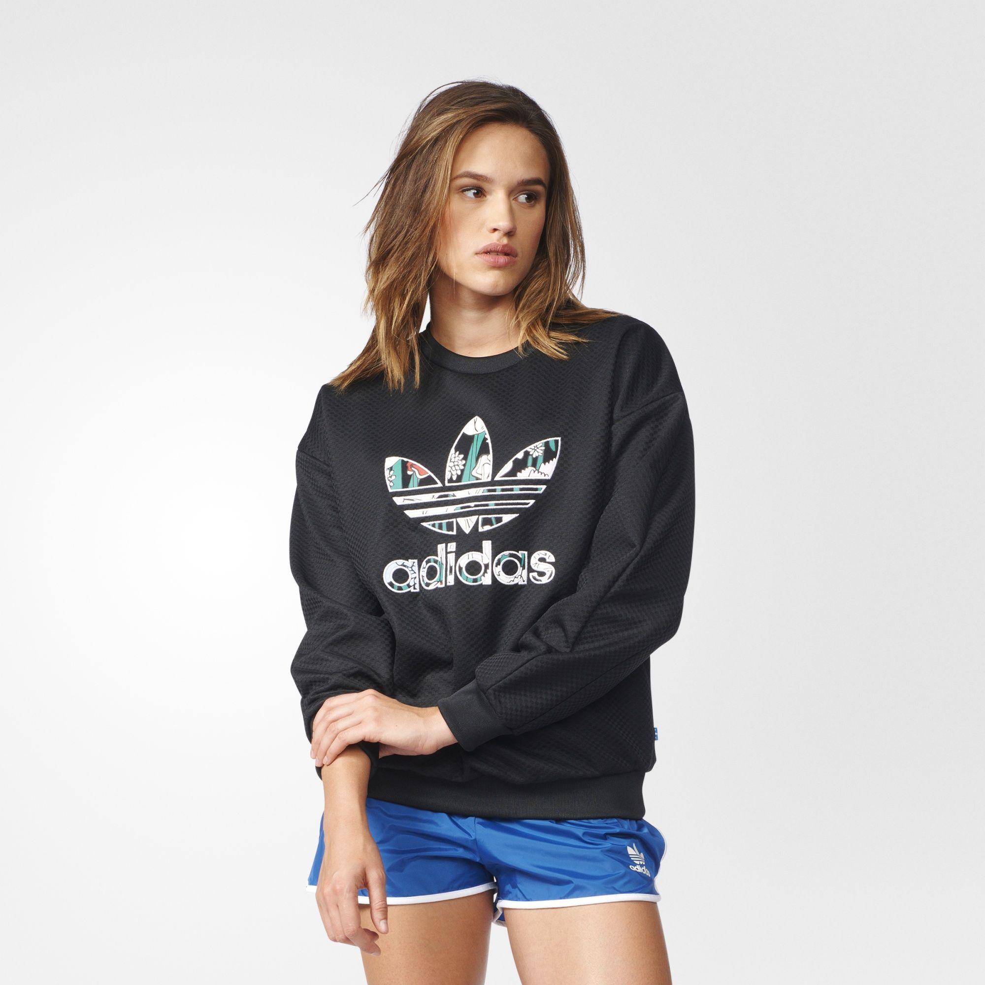 Adidas Trefoil Sweatshirt Sweatshirts Women Hoodies Sweatshirts Hoodies Womens [ 2000 x 2000 Pixel ]