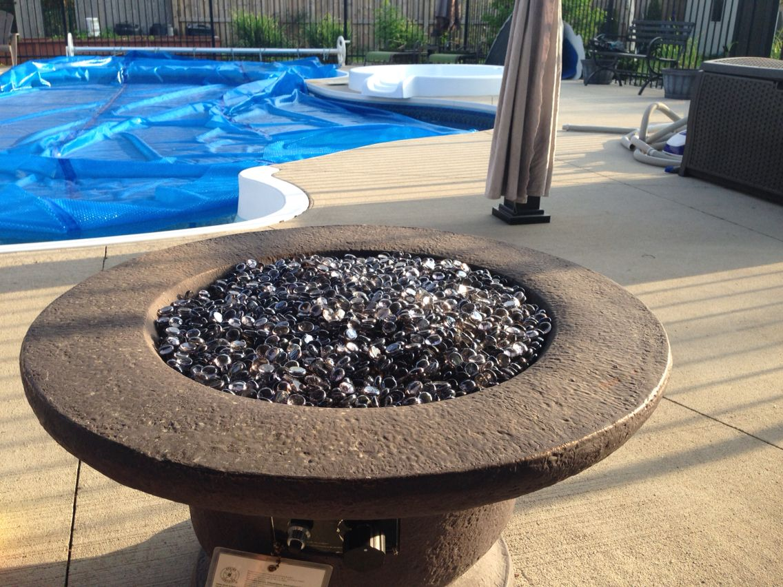 lava glass from canadian tire makes a fire bowl look beautiful