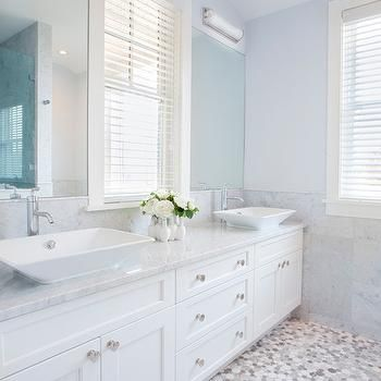 blue gray paint colors, transitional, bathroom, benjamin