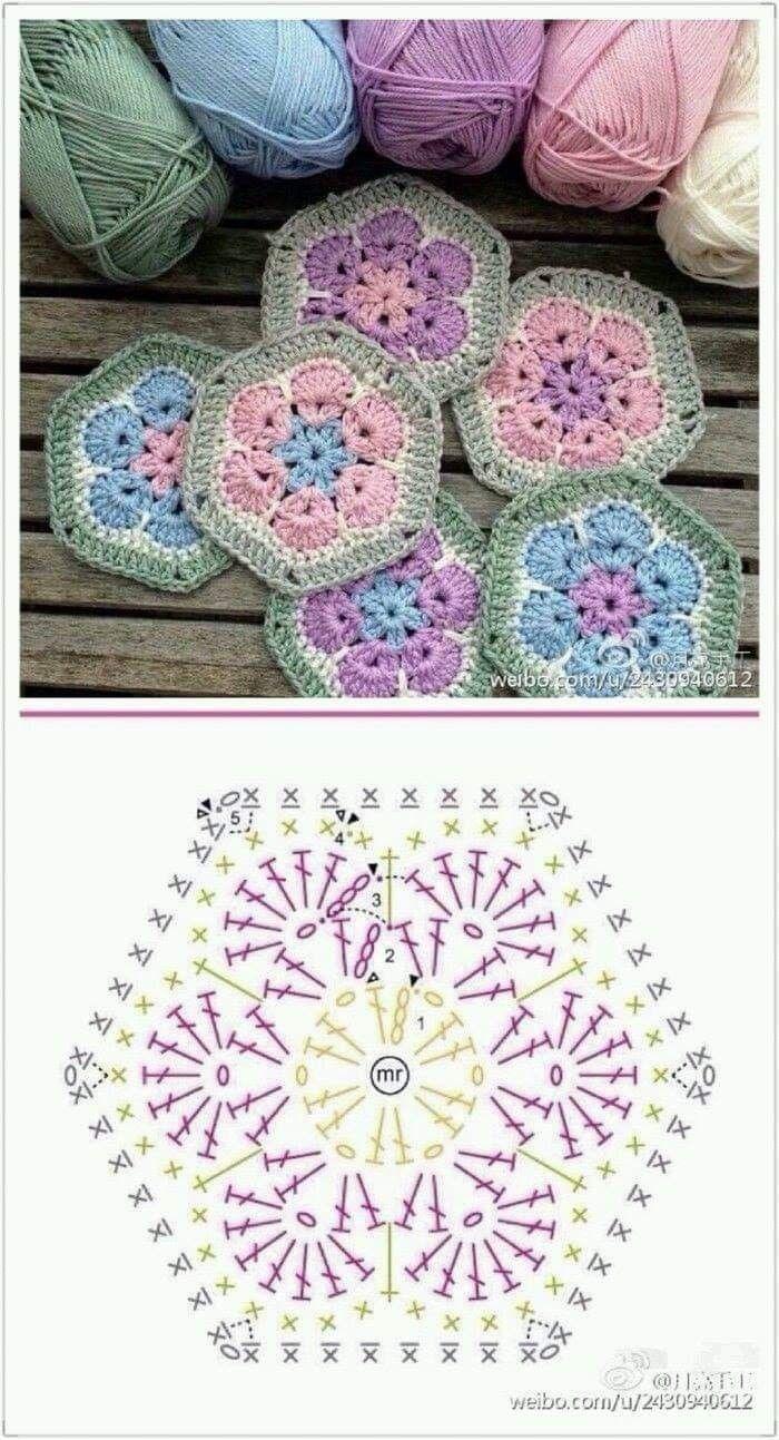 Beautiful Granny Square - great for a blanket.  grannysquares  crochet  häke