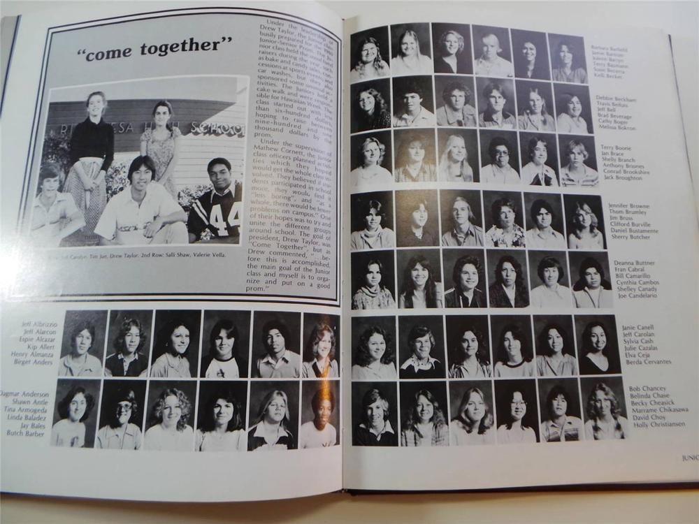 1980 RIO MESA HIGH SCHOOL Oxnard California YEARBOOK El