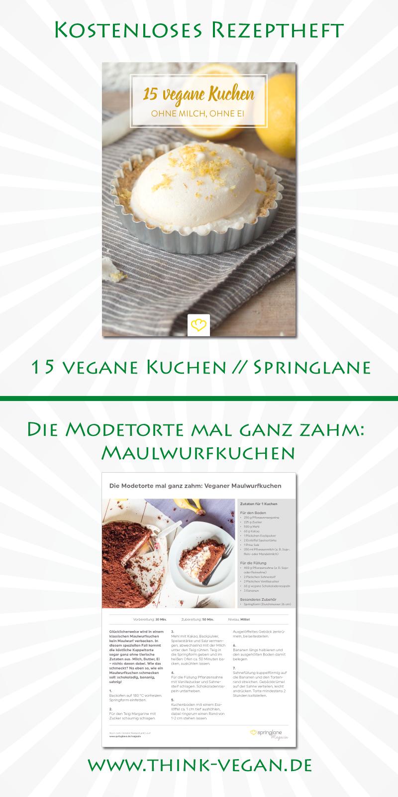 Die Modetorte Mal Ganz Zahm Maulwurfkuchen Vegan Backen Kostenloses Rezeptheft Von Springlane Als Pdf Vegan Backen Kuchen Ohne Milch Erdnussbutter Banane