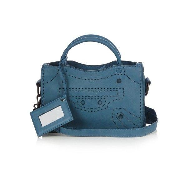 a1a99140c6 Balenciaga Blackout City mini leather cross-body bag ($2,100) ❤ liked on  Polyvore
