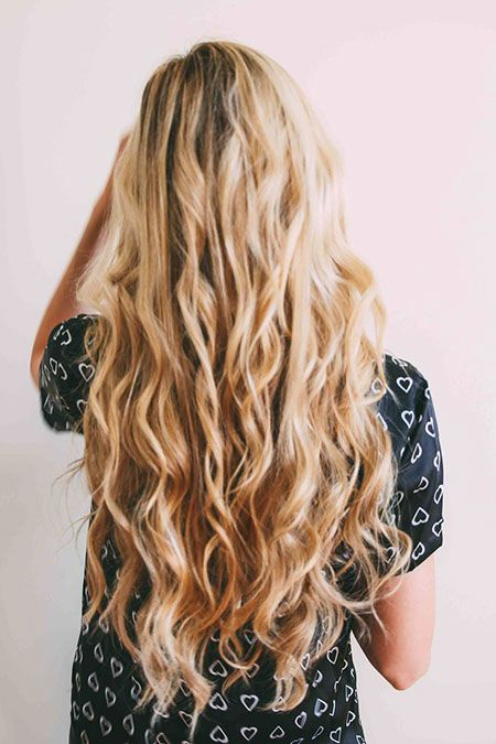 blonde lange lockige locken gekr uselte balayage. Black Bedroom Furniture Sets. Home Design Ideas